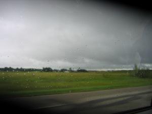 Rain through the wind shield