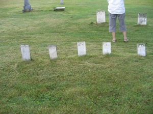Row of Children's Graves