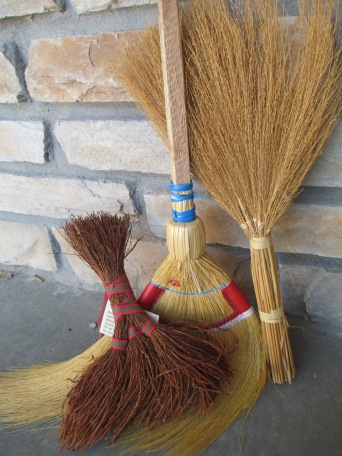 Swedish hearth broom and Filipino brooms for rice.