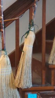 Brooms made the old way.